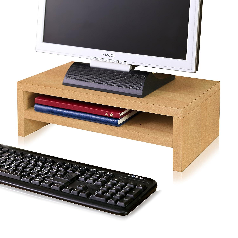 Way Basics Eco Friendly 2-shelfコンピュータモニタスタンドライザー( Madeから持続可能なNon Toxic Zboard板紙) ブラウン  ナチュラル B077SXX1M9