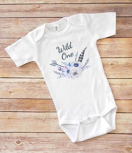 05d9da144 Amazon.com: First Birthday Baby Girl Onesie - Wild One - Baby Shower Gift:  Handmade
