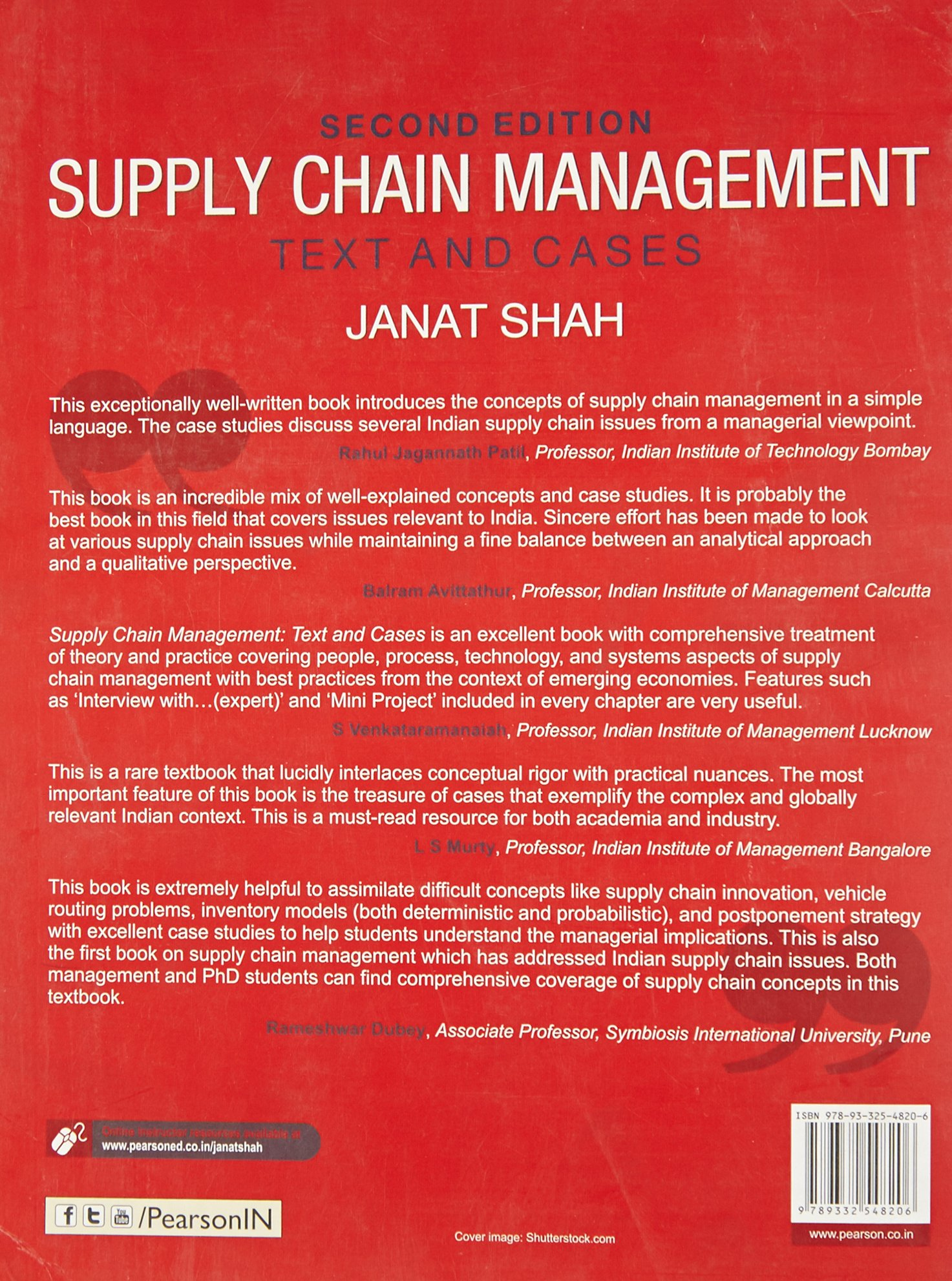 Buy Supply Chain Management 2/e: Text and Cases Book Online