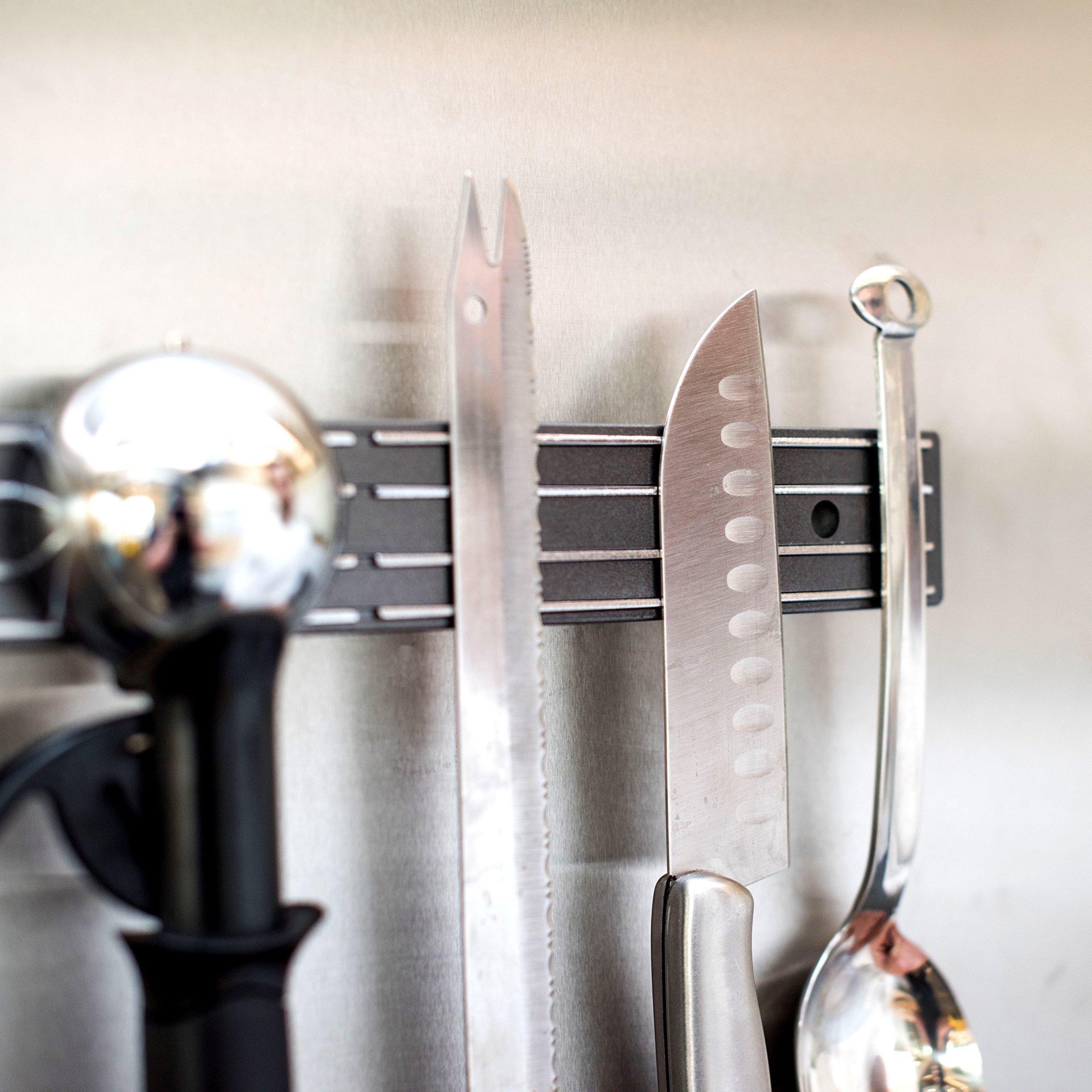 Master Magnetics Magnetic Tool Holder/Magnetic Knife Holder, 12-inch Double-Sided Magnet Strip, Mount on Metal Surface (Black) 07577 by Master Magnetics (Image #5)