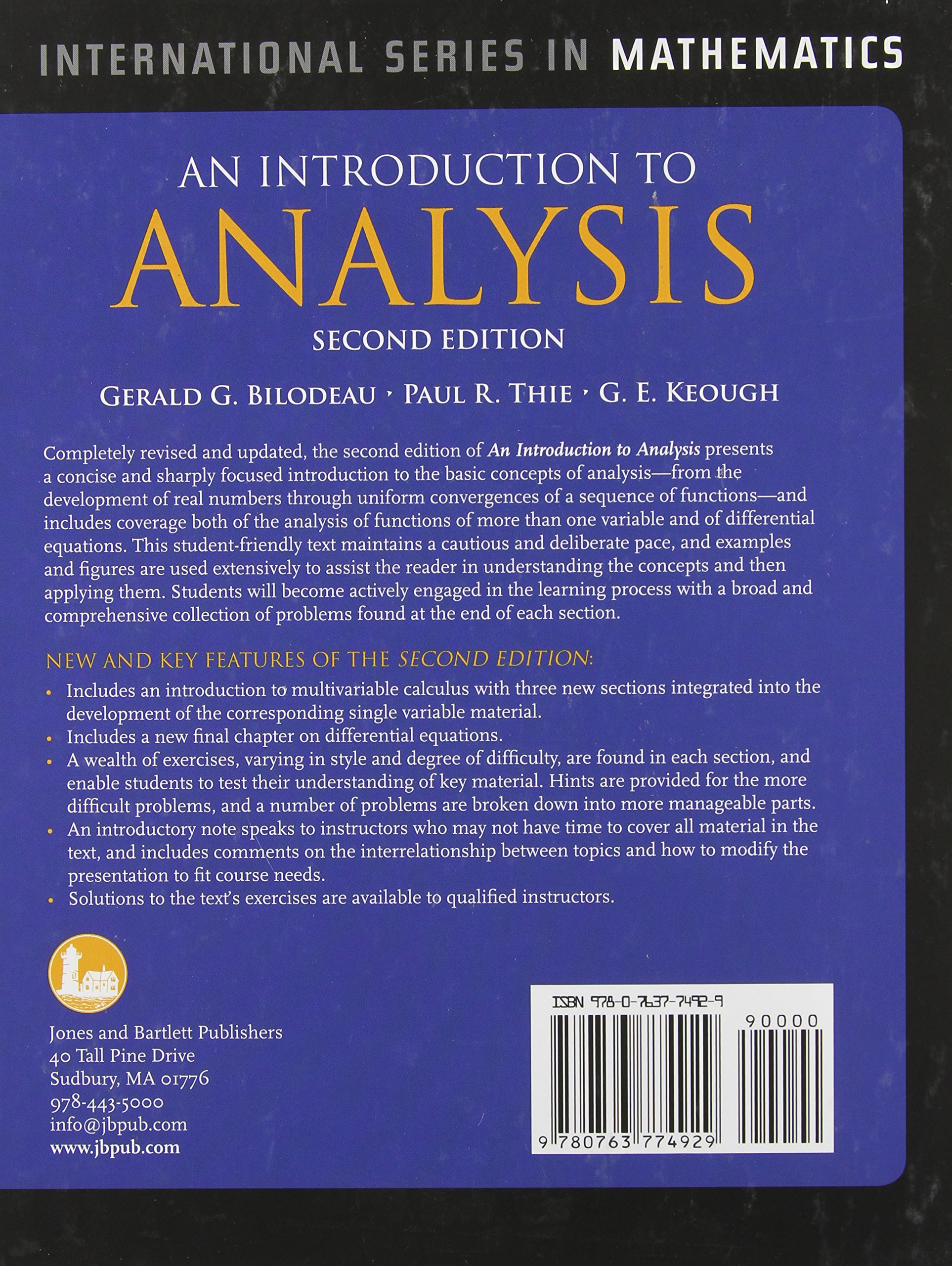 Buy an introduction to analysis international series in mathematics buy an introduction to analysis international series in mathematics book online at low prices in india an introduction to analysis international series fandeluxe Image collections