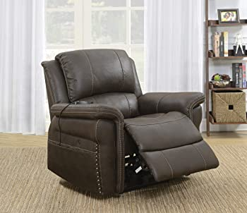 Knowles Fabric Heat and Massage Power Recliner