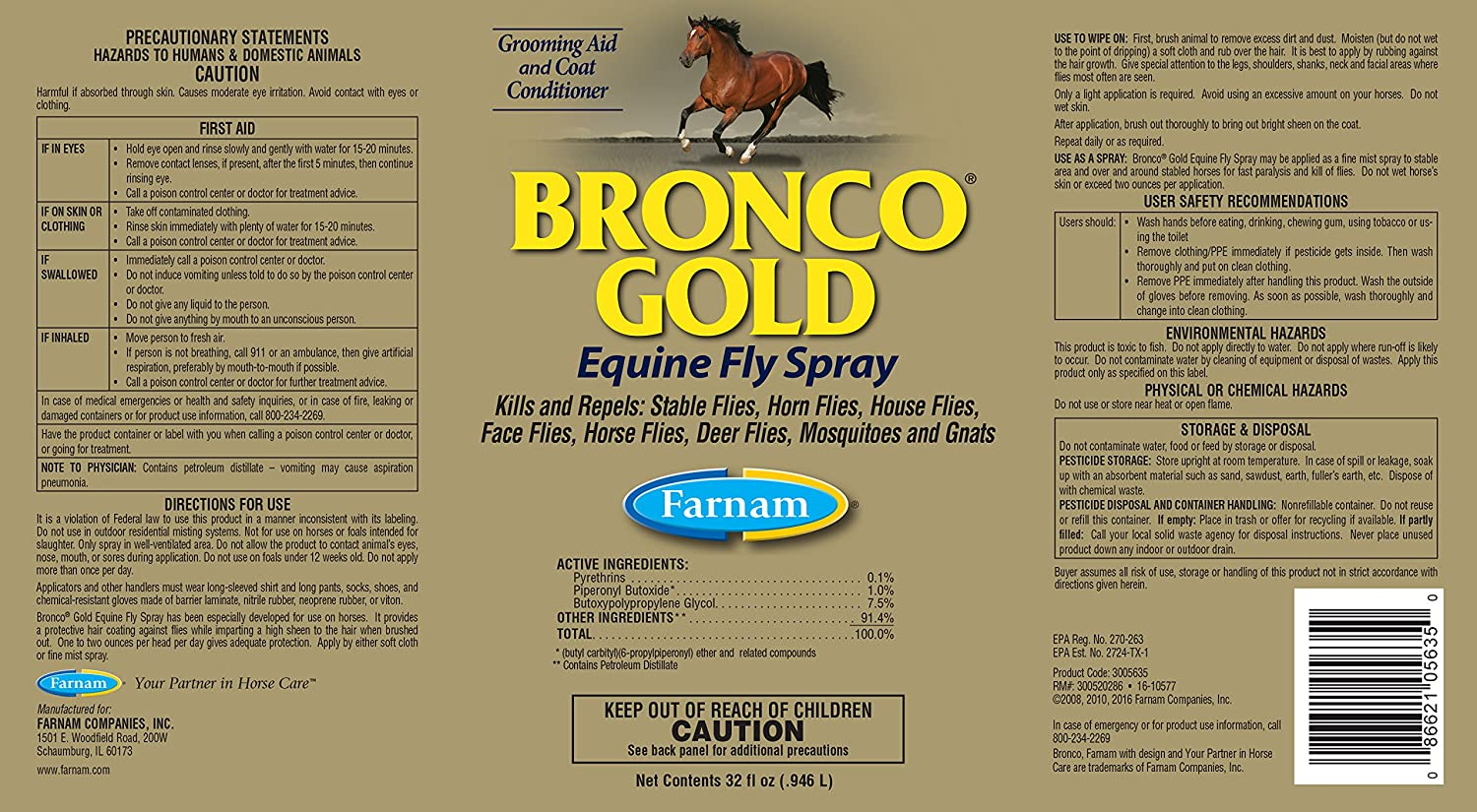 Farnam Bronco Gold