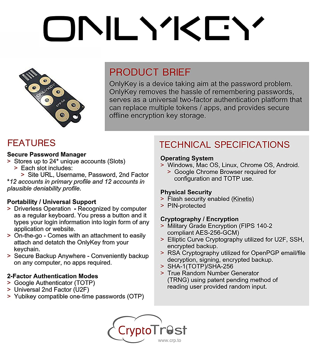 OnlyKey Color - Secure Password Manager and 2 Factor Token (U2F, Yubikey  OTP, Google Auth) Make Password Hacking Obsolete