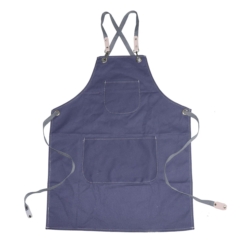 Delantal para hombre QEES WQL228 resistente al agua, apto para cocina, jard/ín, cer/ámica, taller, garaje