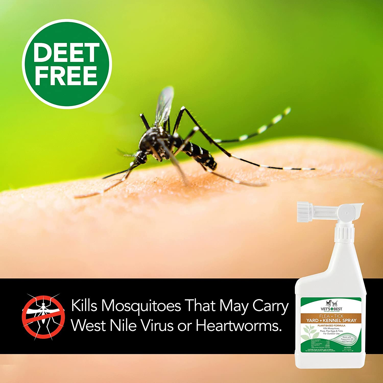 amazon com vet u0027s best natural flea and tick yard u0026 kennel spray