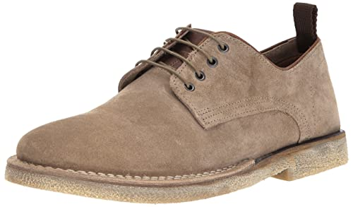 Steve Madden Men's Lowman Oxford, Taupe Suede, 11.5 D(M) US