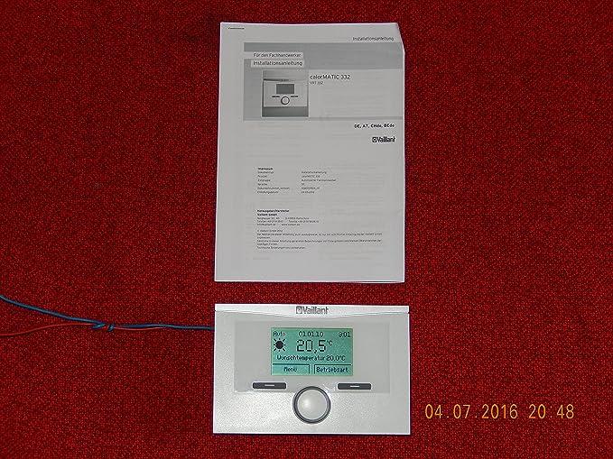 Vaillant - Termostato con tecnología calorMATIC 332: Amazon.es: Bricolaje y herramientas