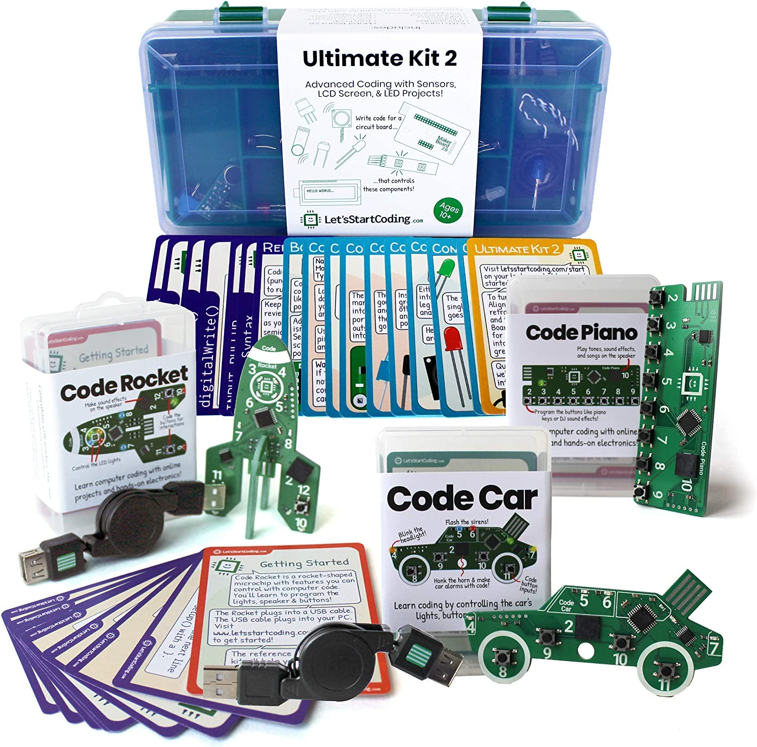 Ultimate Coding Bundle: 4 Coding and Circuitry Kits to Introduce Boys and Girls Age 8-12 to Real Typed Coding and STEM Skills at Home.