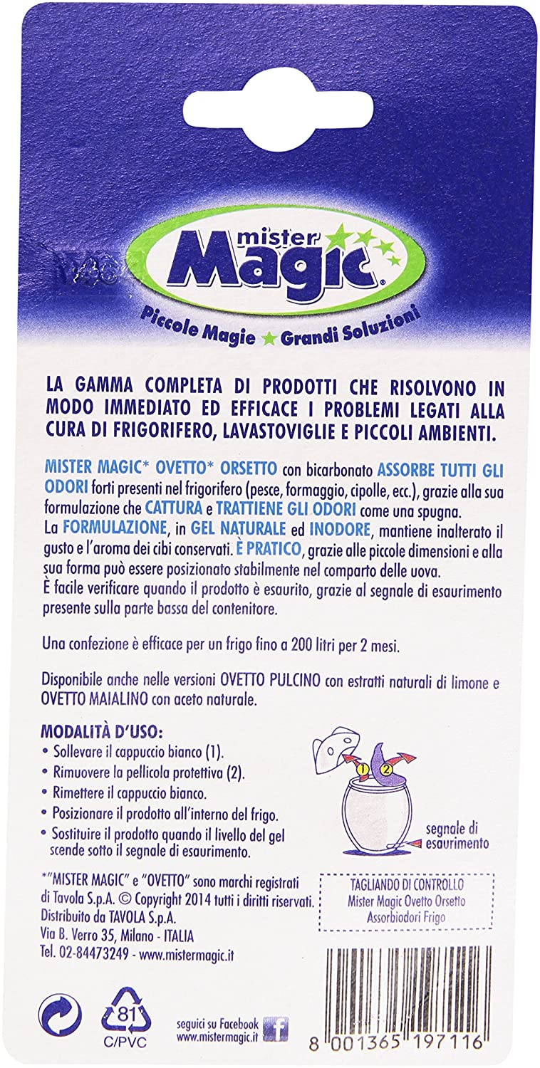 Mister Magic – Absorbe olores nevera con bicarbonato, 2 Meses de ...