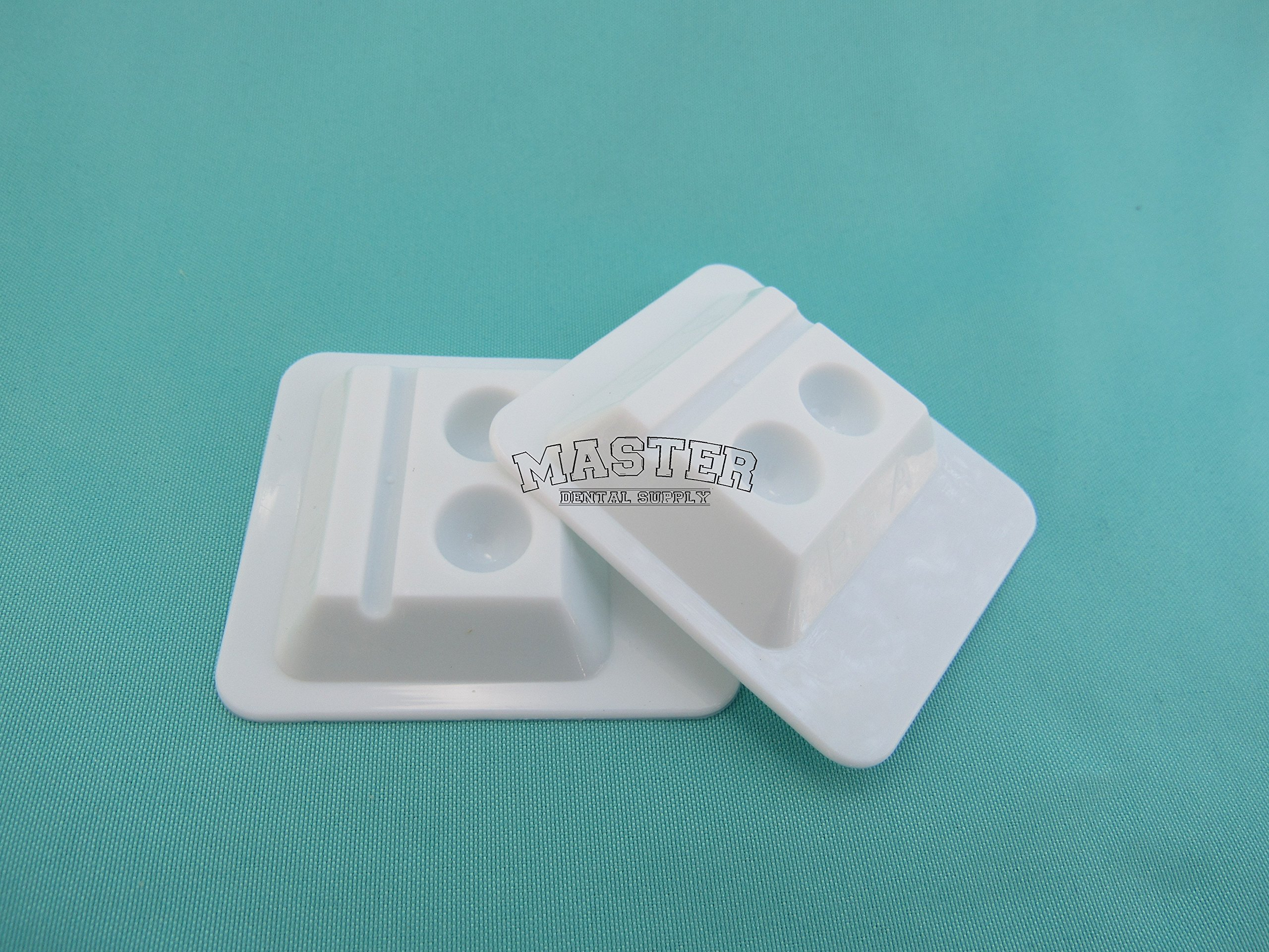 50 Dental Mixing Wells 2 Well WHITE Mixing Tray 2 Holes. Ships from USA