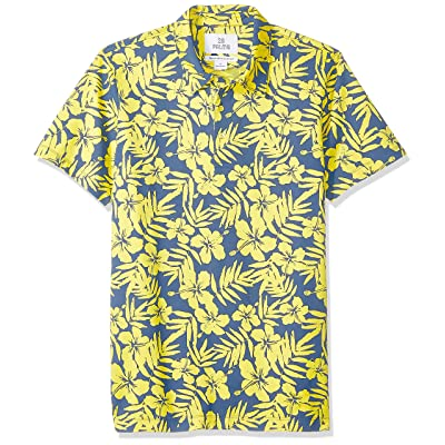 Brand - 28 Palms Men's Relaxed-Fit Performance Cotton Tropical Print Pique Golf Polo Shirt: Clothing