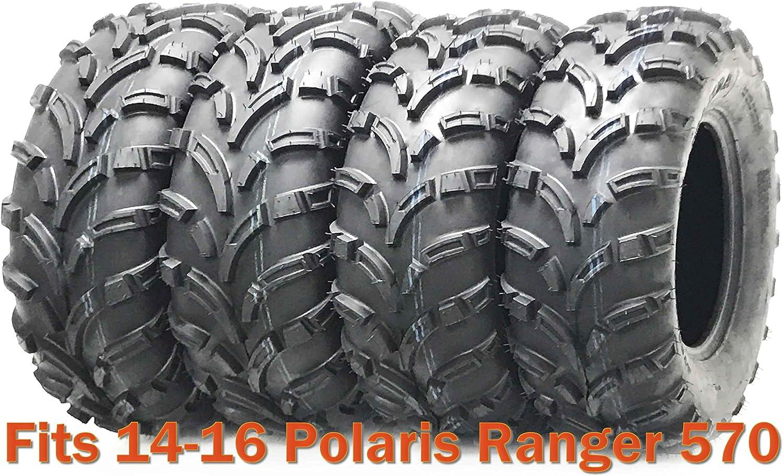 Trail Set 4 WANDA ATV tires 25x8-12 & 25x11-12 for 14-16 Polaris ...