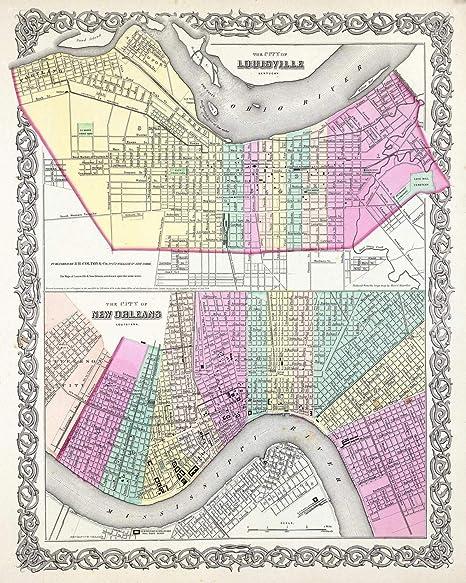 Amazon.com: Historic Map - Colton Plan or Map of New Orleans ... on florida map, shreveport louisiana map, norco louisiana map, los angeles california map, atlanta georgia map, grand isle louisiana map, san francisco california map, louisiana on us map, bossier city louisiana map, covington louisiana map, philadelphia map, baton rouge zip code map, alabama louisiana map, gettysburg pennsylvania map, america louisiana purchase map, natchez map, southern louisiana map, montgomery alabama map, orleans parish map, new louisiana profile map,