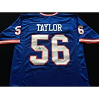 $119 » Lawrence Taylor New York Giants Signed Autographed Blue Football Jersey with JSA COA