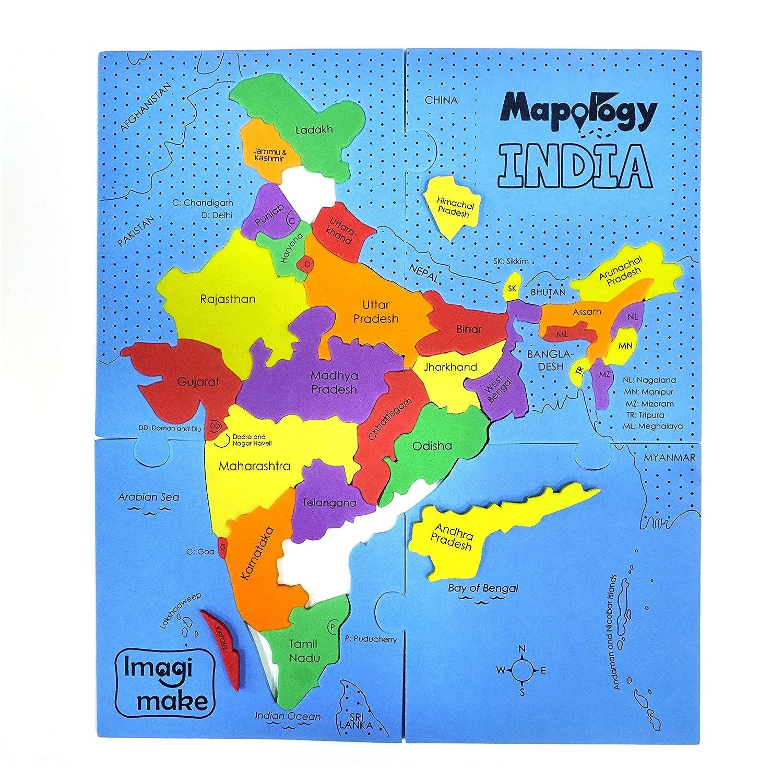 Buy Imagimake Mapology States Of India Map Puzzle Educational