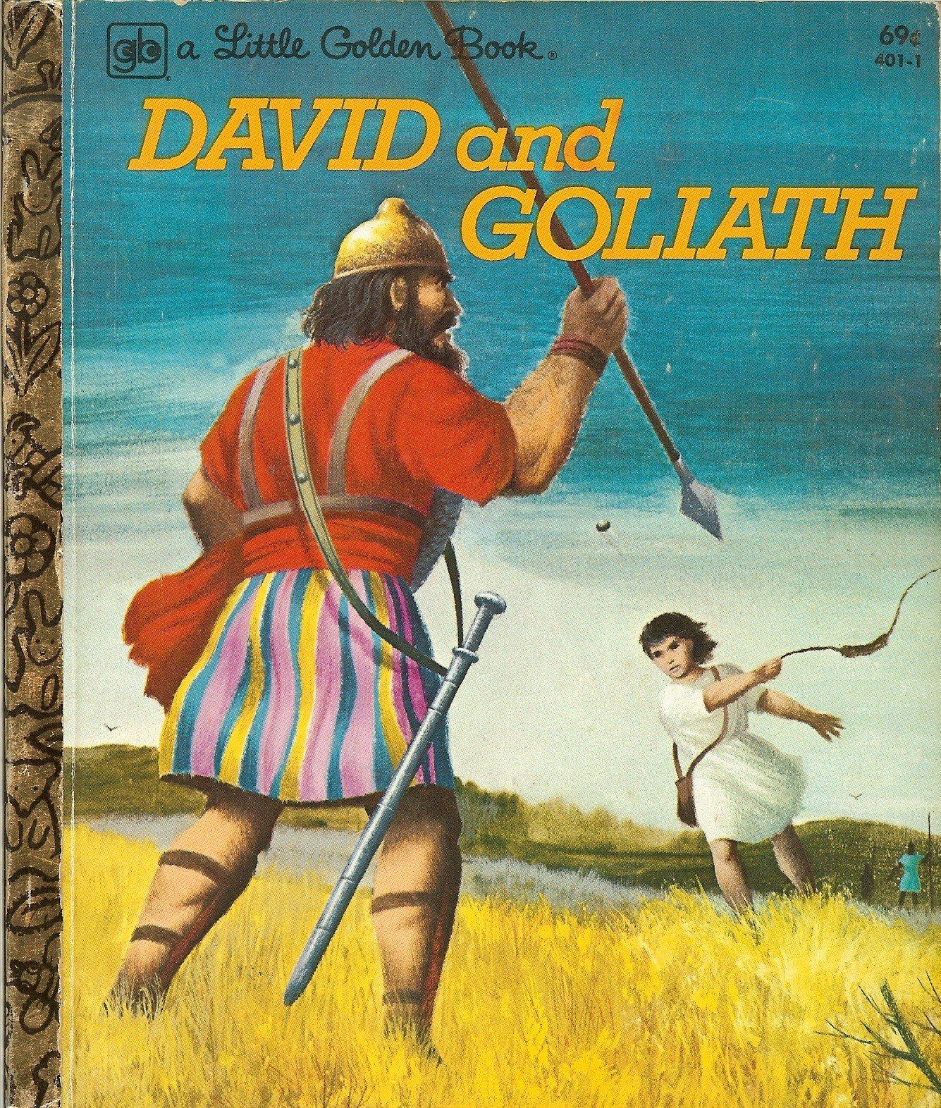 david and goliath little golden book barbara shook hazen