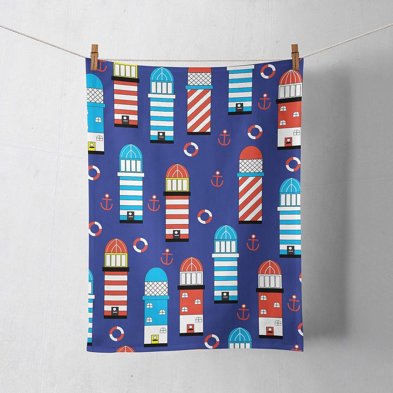 Blue Lighthouse Tea Towels