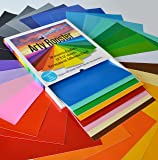 "Self Adhesive Vinyl Sheets by Arty Rooster in a Protective Box | 12""x12"" – 30 Permanent Vinyl Sheets 