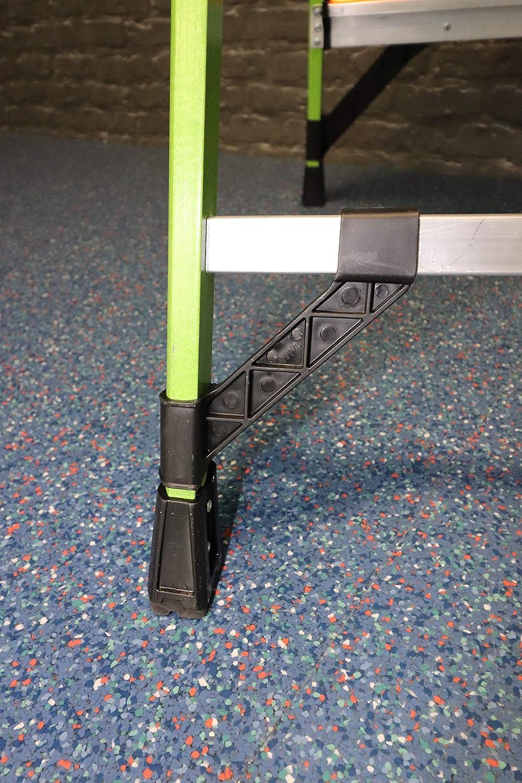 JUMBO LITTLE GIANT Mightylite 4 Stufen GFK Fiberglas Stufenstehleiter mit Klick-Stufe