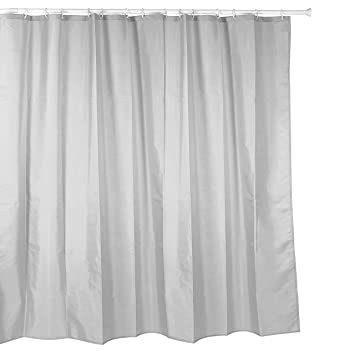 Duschvorhang Textil duschvorhang textil polyester 220x200 cm uni grau hellgrau