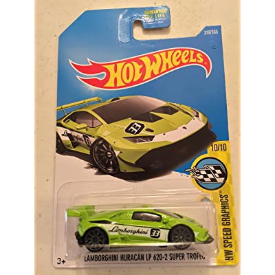 Hot Wheels HW Speed Graphics Lamborghini Huracan LP 620-2 Super Trofeo 319/365, Neon Green: Toys & Games