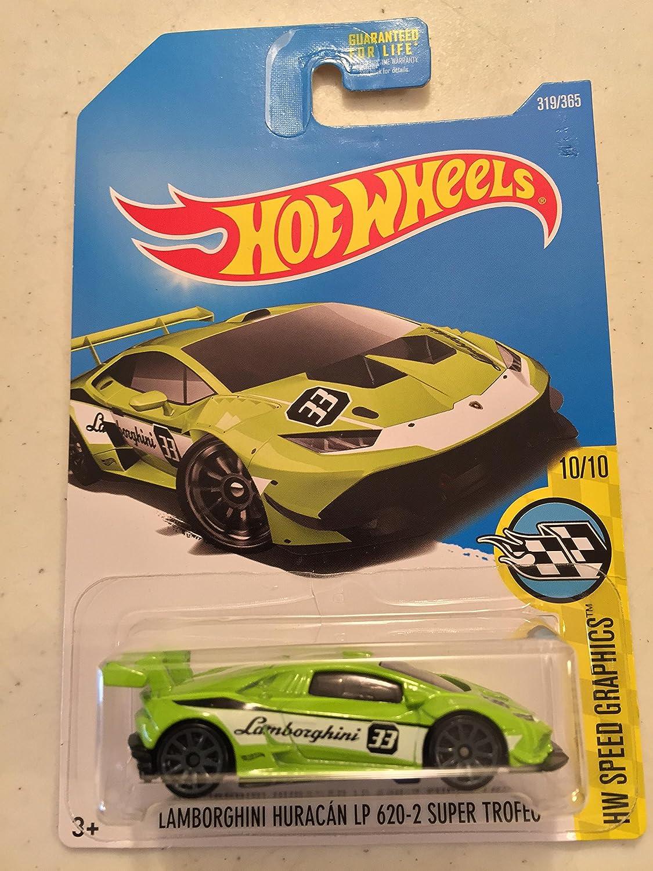 Hot Wheels HW Speed Graphics Lamborghini Huracan LP 620-2 Super Trofeo 319//365 Neon Green Mattel SG/_B075BLTNLT/_US