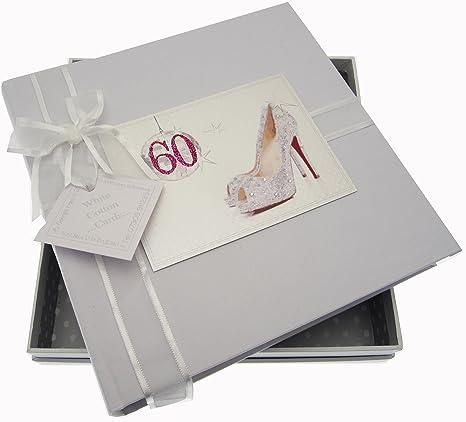 Bola Tarjetas algodón blanco 60mo cumpleaños del álbum ...