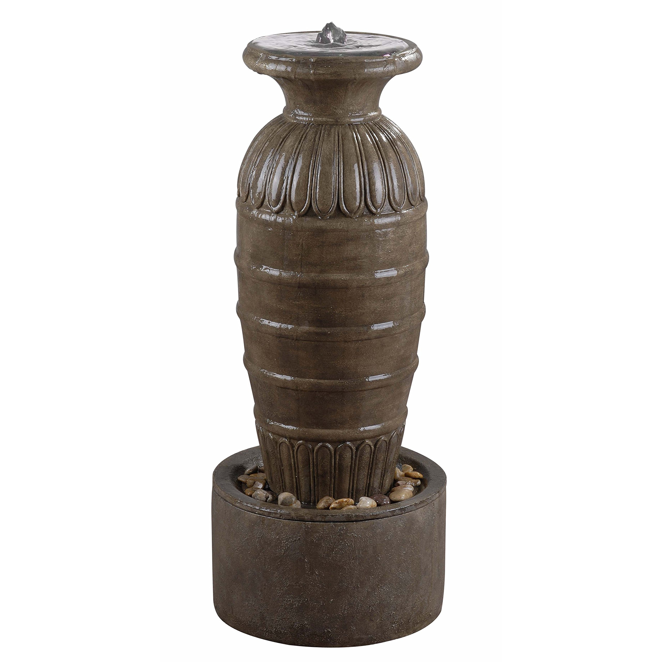 Kenroy Home 50039TE Ernesto Outdoor Floor Fountain, Tuscan Earth Finish