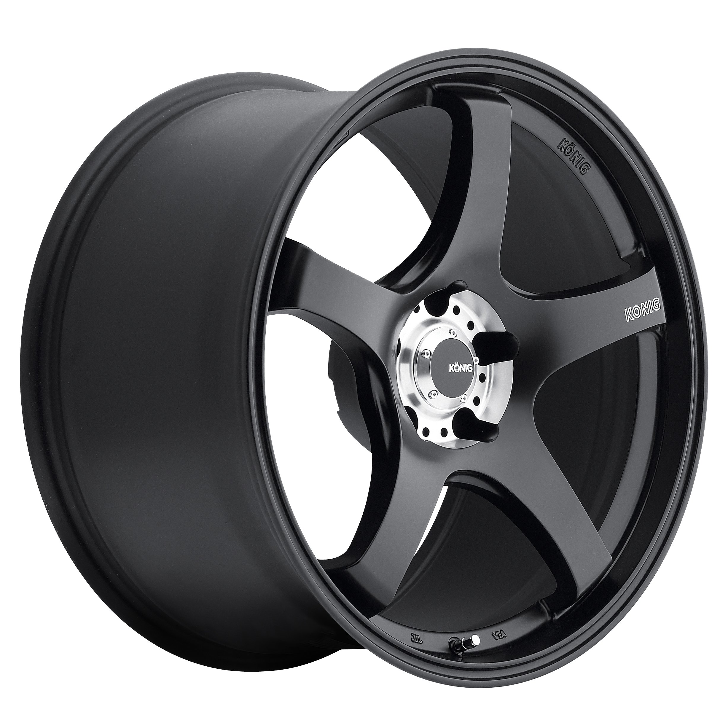 Konig CENTIGRAM Matte Black Wheel with Machined PCD (19x8.5''/5x114.3mm, +33mm offset) by Konig (Image #1)