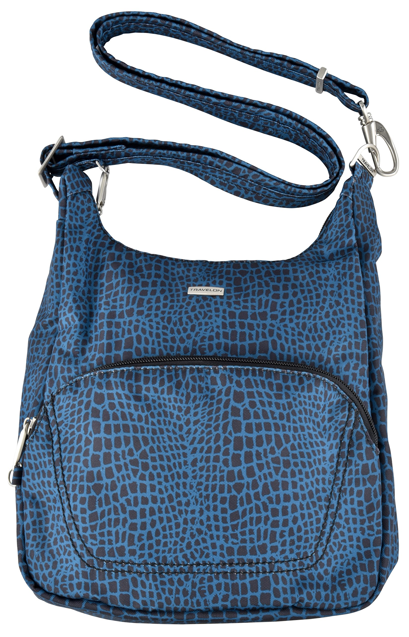 Travelon Anti-Theft Classic Essential Messenger Bag (Blue Snake)