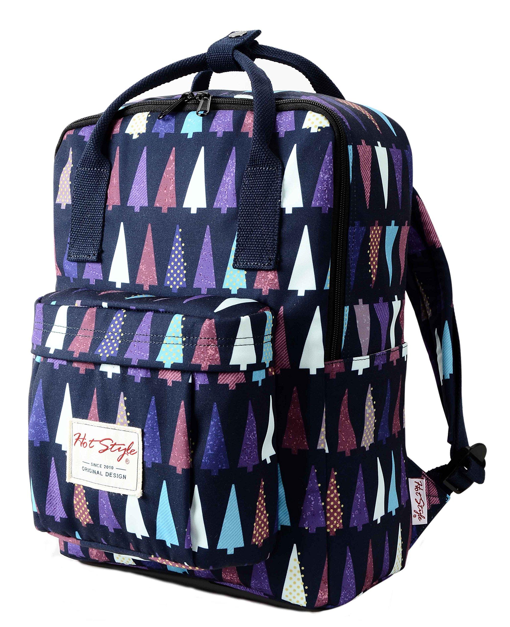 HotStyle BESTIE Cute School Backpack for Girls - Christmas Trees
