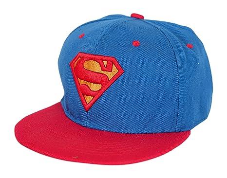 7d53293f213 Krystle Unisex Cotton Blue Red Superman Hip Hop Snapback Cap  Amazon.in   Clothing   Accessories