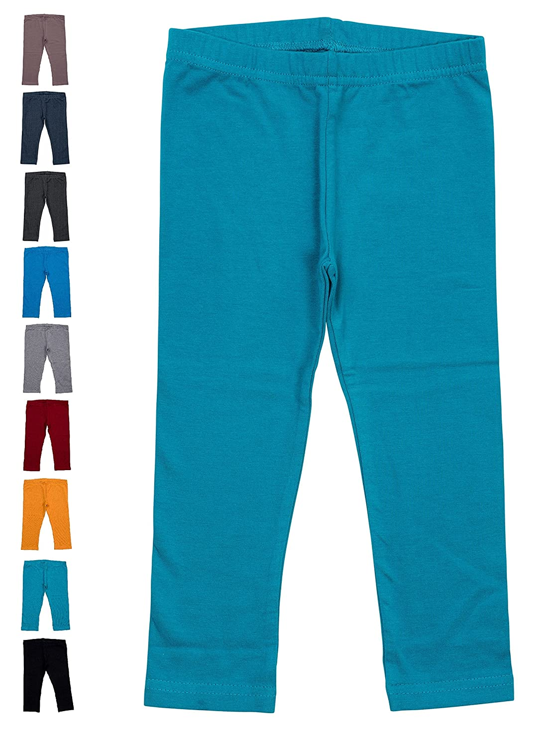 Baby Jay Baby and Toddler Leggings Premium Soft Cotton Solid Color Unisex Tights for Boys and Girls