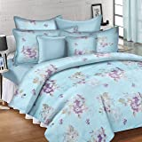 Ahmedabad Cotton Comfort 144 TC Cotton Bedsheet with 2 Pillow Covers - King Size, Blue