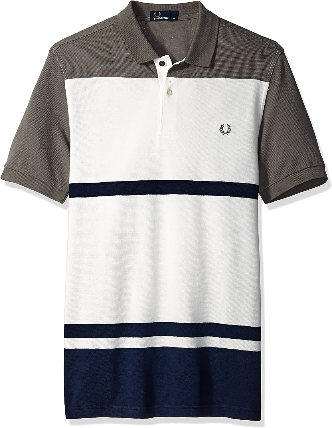 Fred Perry Hombres M4529 Manga Corta Camisa Polo - Multi - Large: Amazon.es: Ropa y accesorios