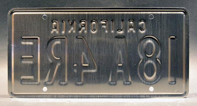 Metal Stamped Vanity Prop License Plate I8A4RE Celebrity Machines Sharknado 90210 Steve/'s Corvette I8A 4RE