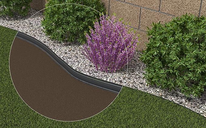 AMISPOL® Flexible Borde de Jardín, Bordillo Escondido - 125/4 mm ...