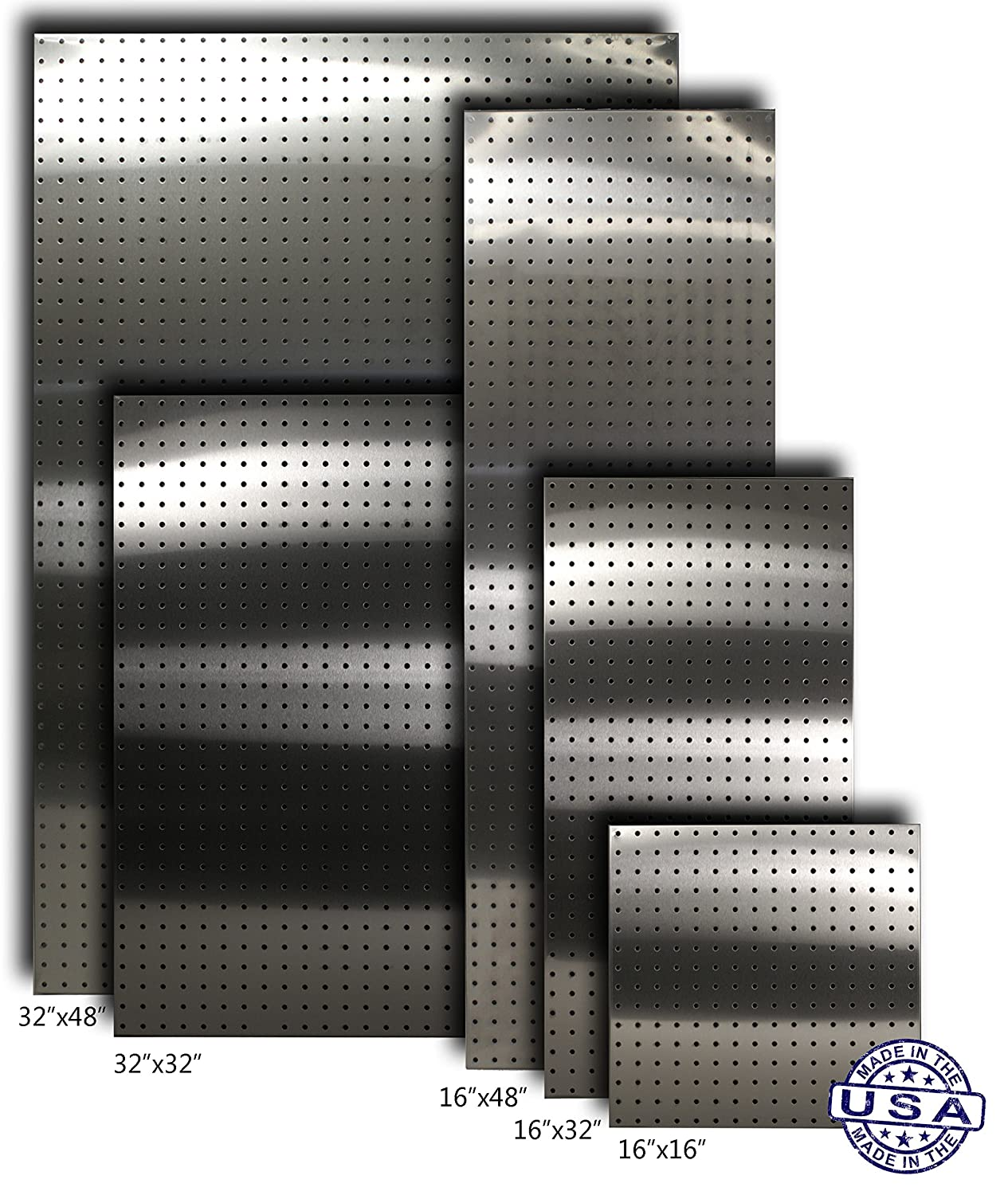 Stainless Supply Stainless Steel Pegboard (Various Sizes Available