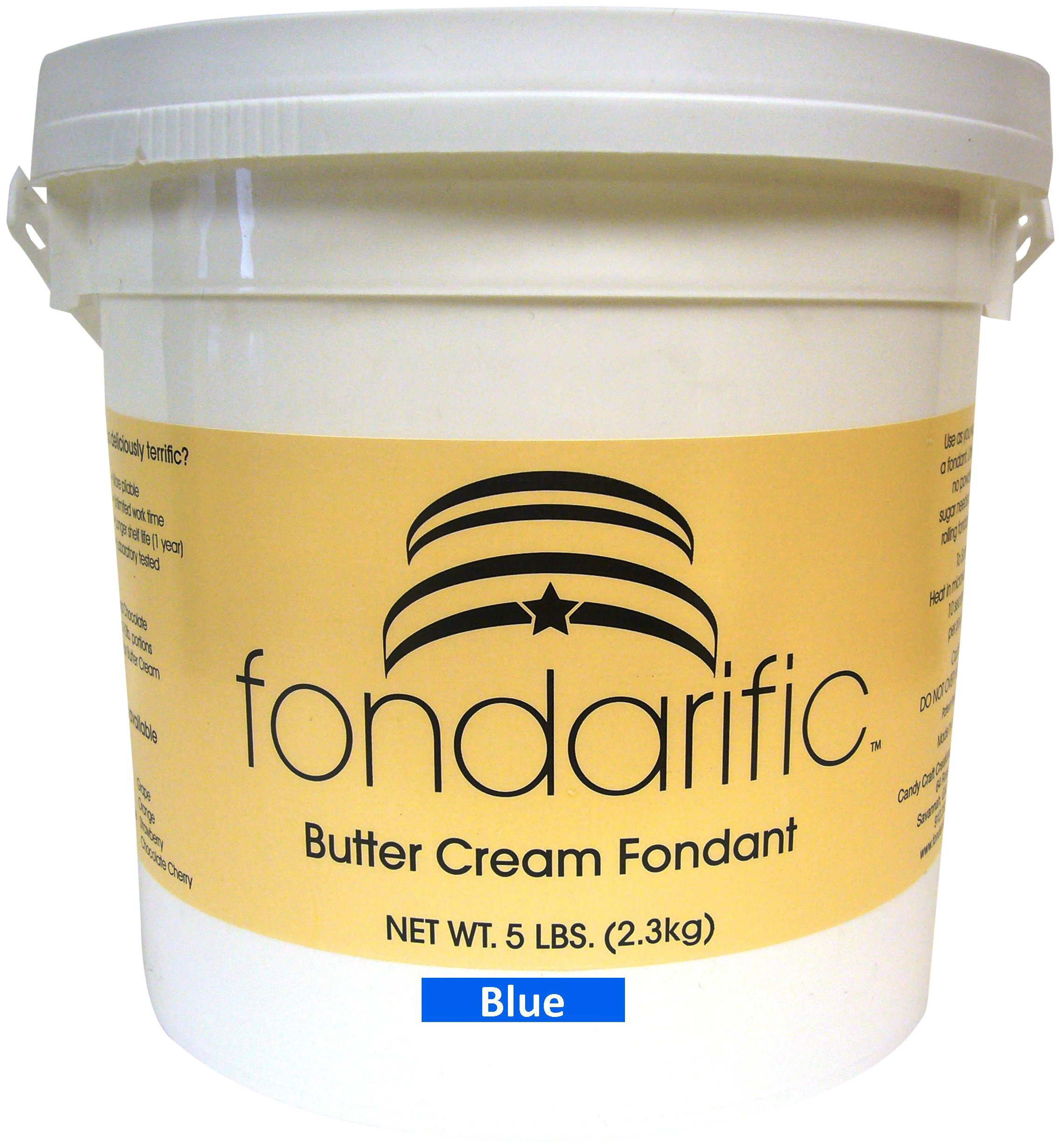 Fondarific Buttercream Blue Fondant, 5-Pounds by Fondarific (Image #2)