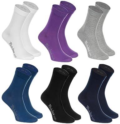 6, 9 oder 12 Paar Socken, Baumwolle in 12 modischen Farben in Europa hergestellt höchste Qualität der Baumwolle mit Zertifikat Öko Tex in vielen