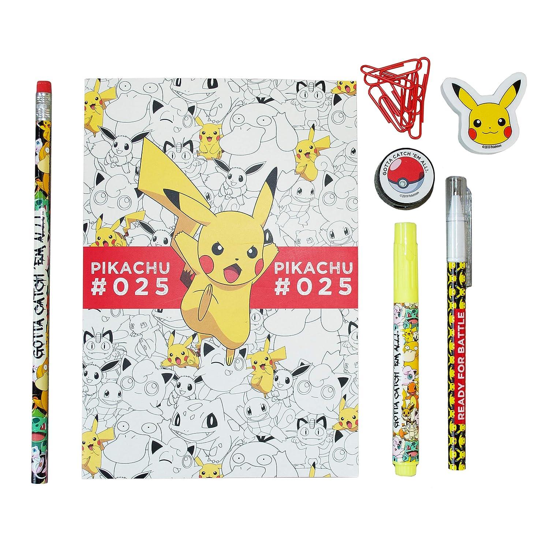 Pokemon bsc-11-pk Pikachu und Friends 6/Farbe Kugelschreiber mit Kordel