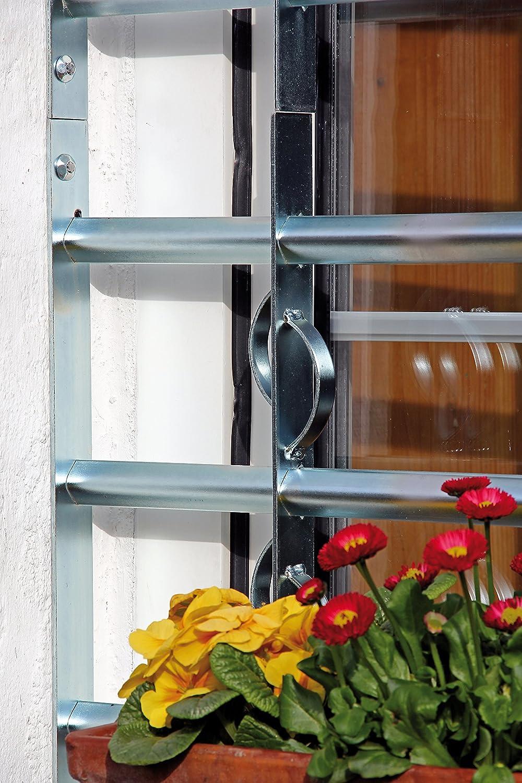 563653 GAH-ALBERTS Ventana Rejilla secorino Style/ /Extensible galvanizado en Azul
