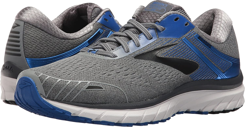 Brooks Men's Adrenaline GTS 18 Running Shoe Wide 2E B071F1KSYN 9.5 EE US|Grey/Blue/Black
