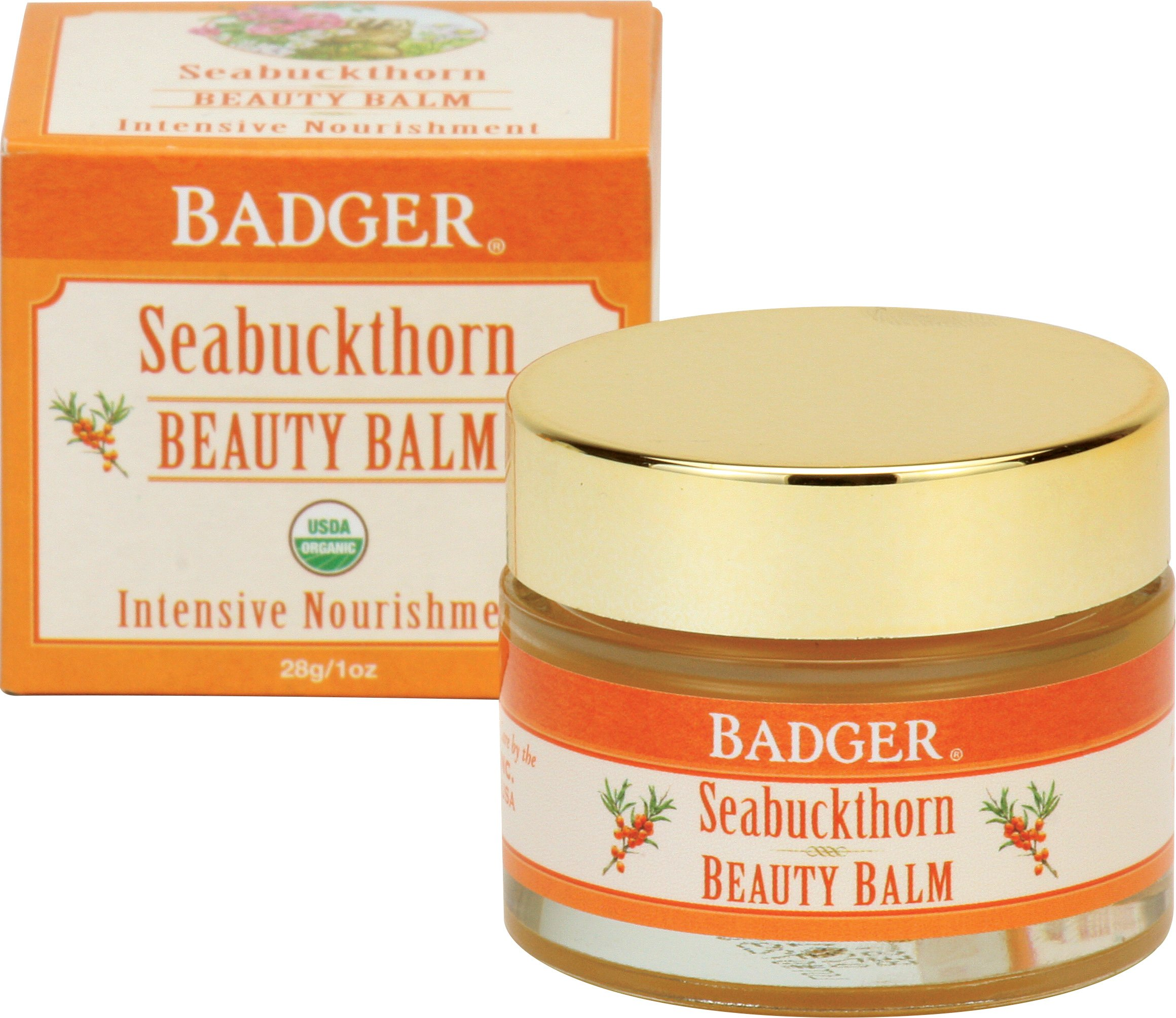 Badger Seabuckthorn Beauty Balm - 1 oz Glass Jar