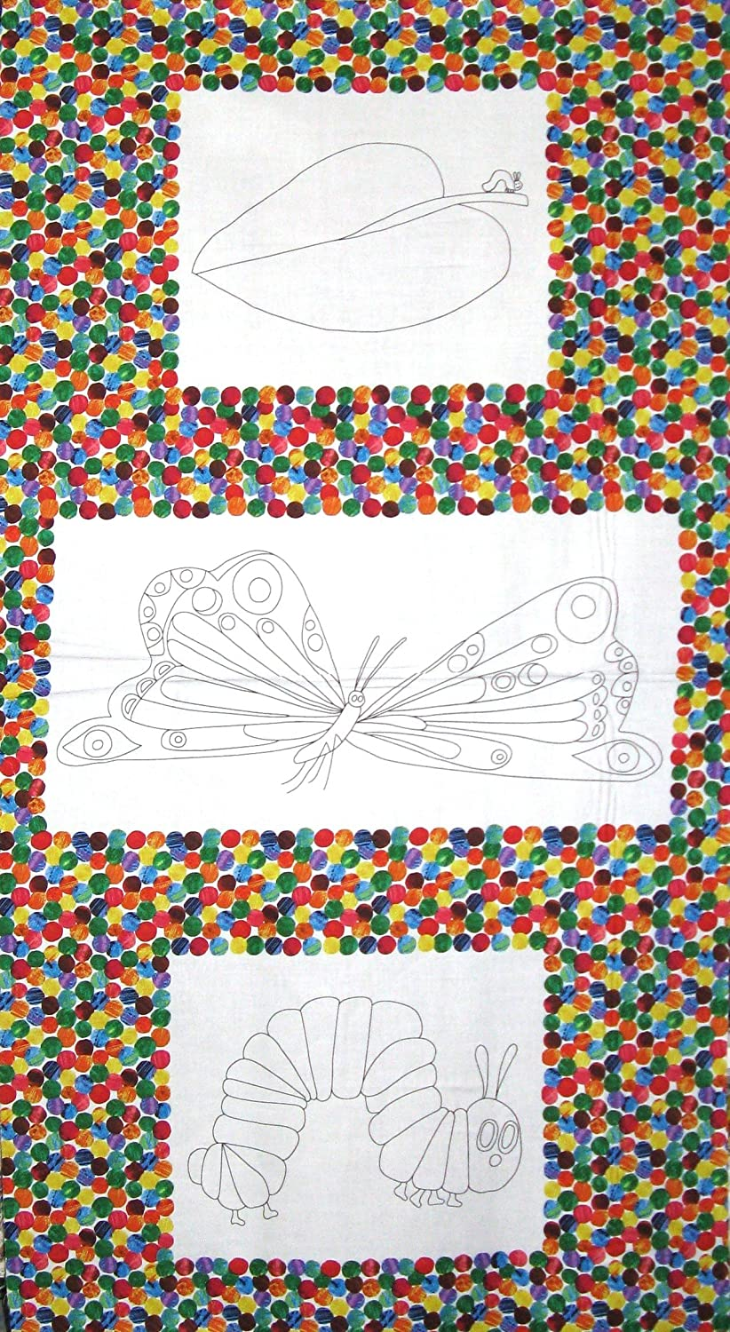 Eric Carle The Very Hungry Caterpillar Coloring Book Cotton Fabric by The Panel
