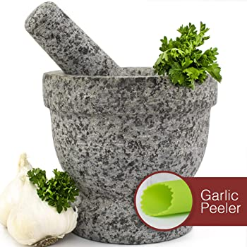 Gramercy Kitchen Company Unpolished Granite Bowl Mortar And Pestle Set