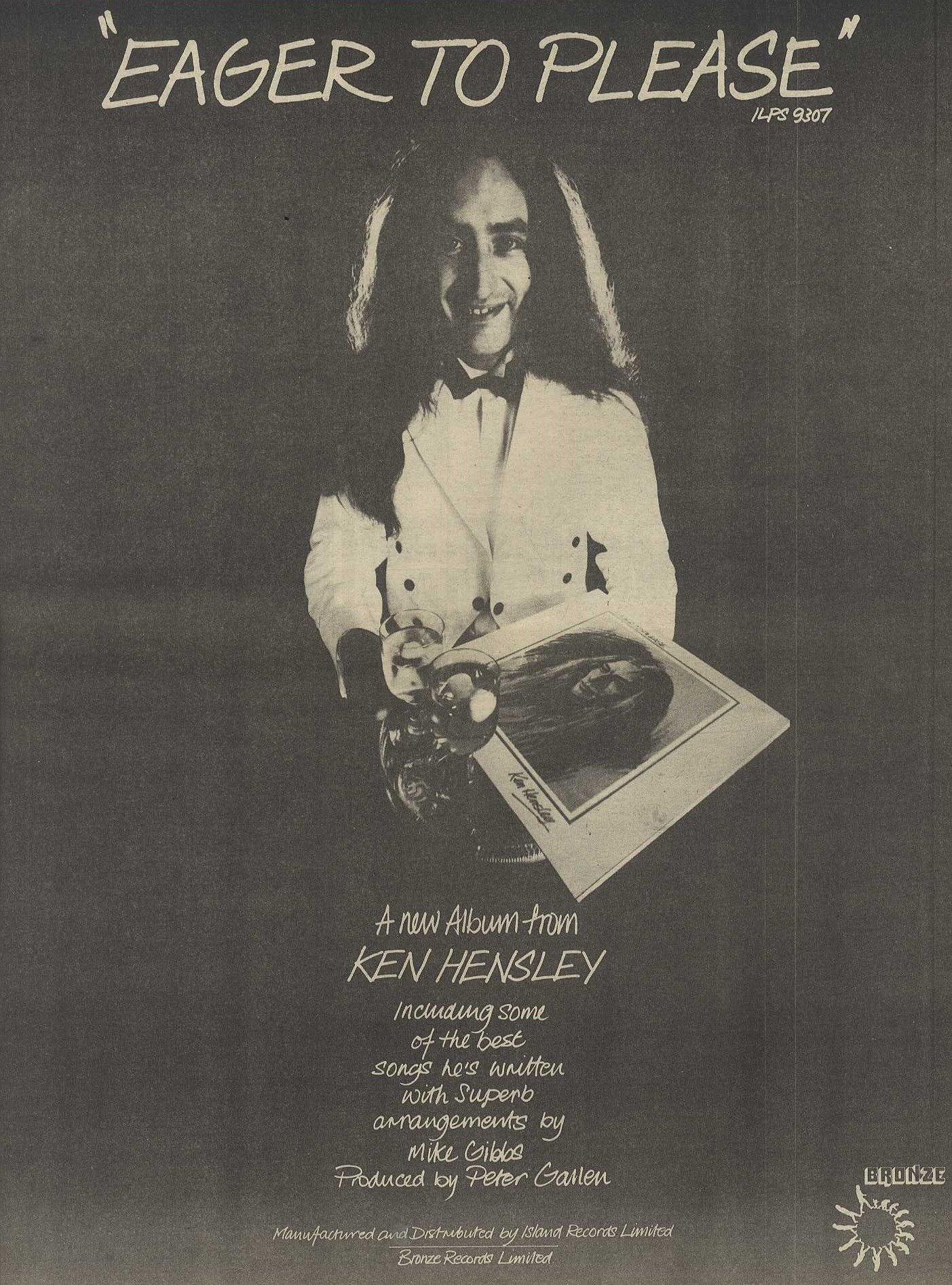 Poster Size Advert 15x12 Ken Hensley Eager To Please Album Bronze Amazon Co Uk Newspaperclipping Books