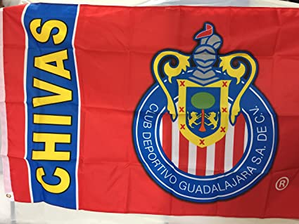 Amazoncom Chivas Guadalajara Flag Banner 3x5 Mexico Futbol Soccer