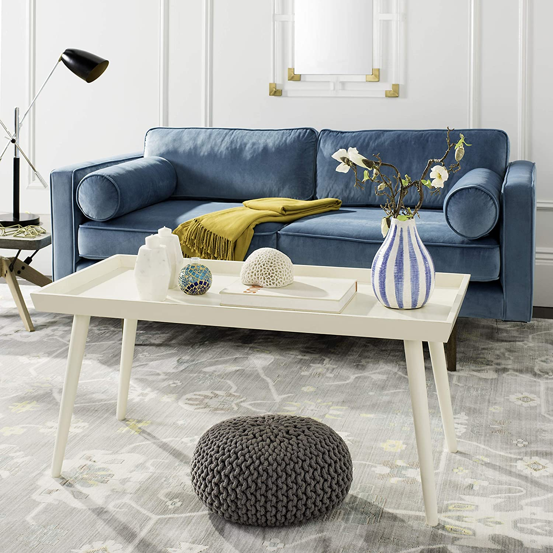 Phenomenal Safavieh Home Collection Nonie Distressed White Coffee Table Antique Machost Co Dining Chair Design Ideas Machostcouk